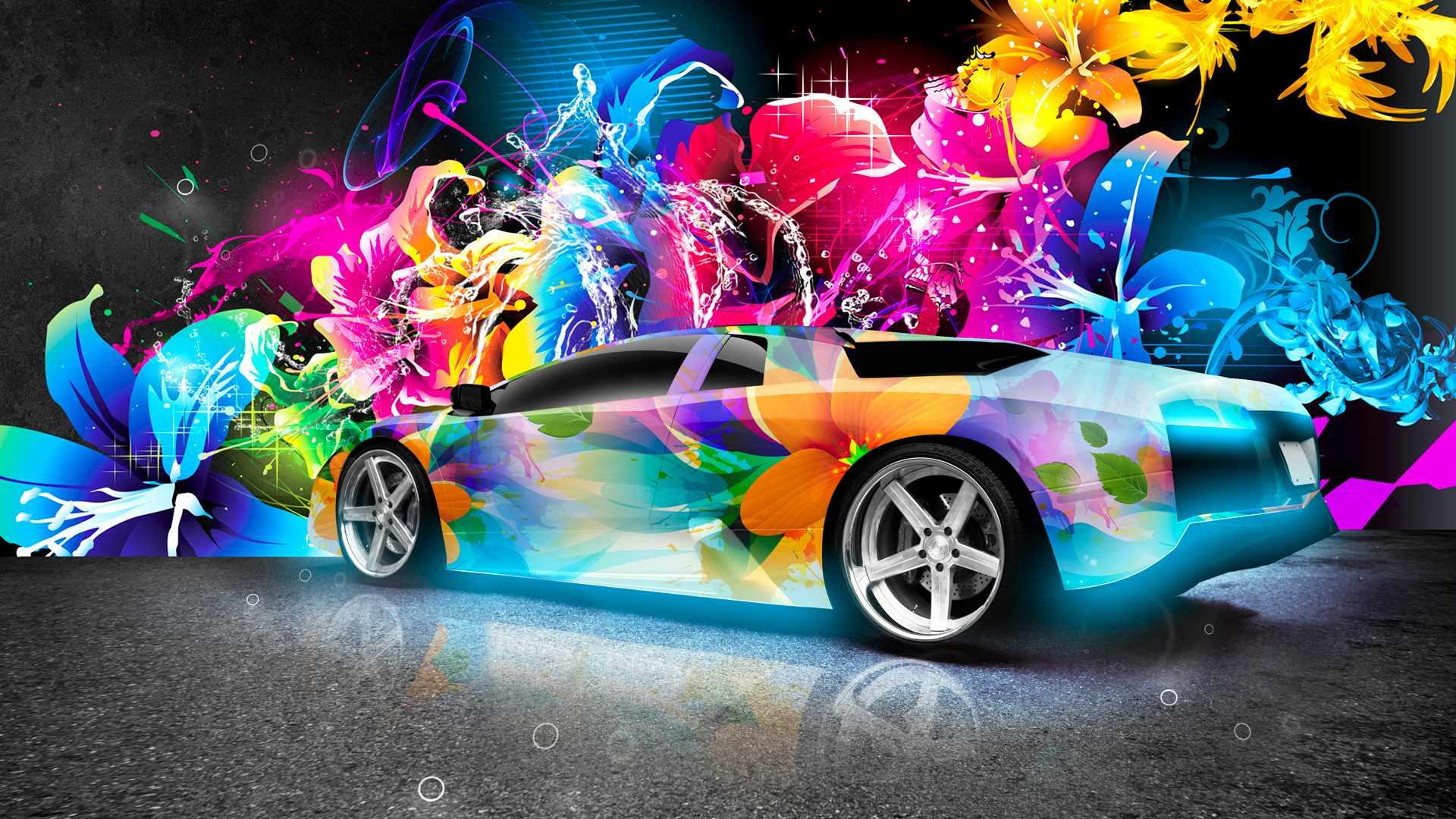 colorful-lambo